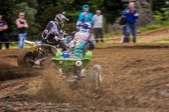 ATV Rider in the extreme cornering Stock Image