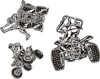 ATV Riders 3. Stock Image