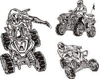 ATV Riders 7. Royalty Free Stock Image