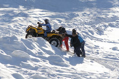 ATV riders in winter Stock Images