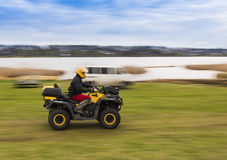 ATV riding at high speed Royalty Free Stock Photo