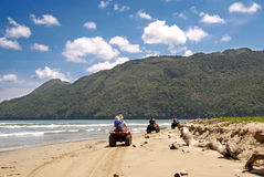 ATV's on the beach in Cayo Levantado, Dominican Republic. Stock Photo
