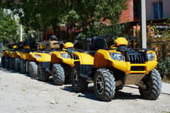 ATV's parked on rural road Stock Photography