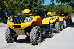 ATV's parked on rural road Royalty Free Stock Photo