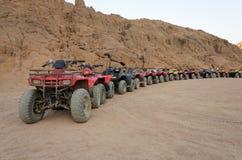 ATV safari Wycieczki w Egipt Zdjęcia Stock