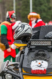 ATV of Santa Claus Royalty Free Stock Photo