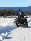 Atv snow plow Stock Photos