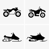 ATV and Snowmobile Royalty Free Stock Photo