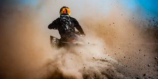 Atv-Sport-Aktions-Rennen nicht für den Straßenverkehr Lizenzfreies Stockfoto
