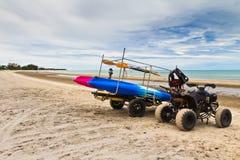ATV sulla spiaggia. Fotografia Stock Libera da Diritti