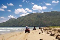 ATV sulla spiaggia in Cayo Levantado, Repubblica dominicana Fotografia Stock