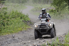 ATV Trail Rider Royalty Free Stock Photos