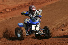 ATV Turn. Hard Left Turn Royalty Free Stock Photography