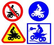 ATV-verkeerstekenplaatsen Stock Afbeelding