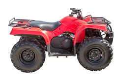 ATV vermelho Fotos de Stock Royalty Free