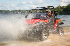 ATV vermelho Imagem de Stock Royalty Free