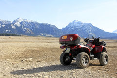 The ATV. With the ATV on the way in the area Royalty Free Stock Photography