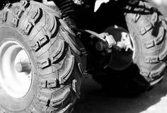 ATV  whell texture. ATV wheel texture in black and white Stock Image