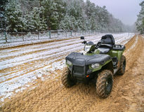 ATV winter background Royalty Free Stock Photo