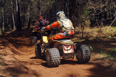 ATV woods racing Stock Images