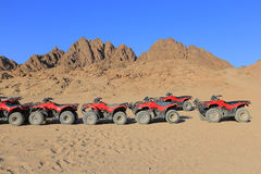 ATVs в пустыне Стоковые Изображения RF