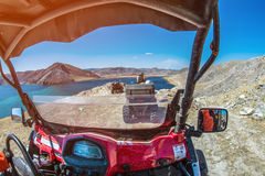 ATVs on the lake in the mountains in summer Stock Photo