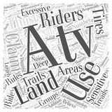 Atvs and land usage word cloud concept  background Royalty Free Stock Photo