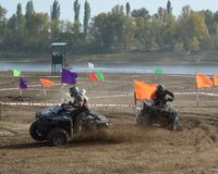 ATVs - offroad racing Stock Photos