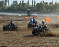 ATVs - offroad racing Stock Image