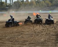 ATVs - offroad racing Royalty Free Stock Images
