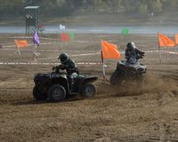 ATVs - offroad racing Royalty Free Stock Image