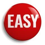 Łatwy Czerwonego guzika 3D symbol Zdjęcia Stock