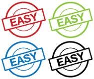 ŁATWY tekst na round prostym znaczka znaku, Fotografia Stock