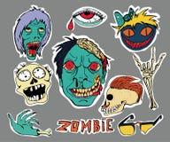 Łaty i majchery inkasowi zombie ilustracja wektor