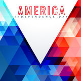 Atylish american independence day design Stock Image