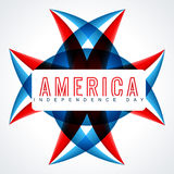 Atylish american independence day design Stock Images