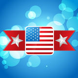 Atylish american independence day design Royalty Free Stock Photography