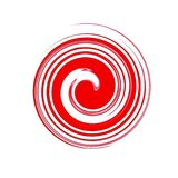 An atypical red spiral. Simple but interesting on a white background Stock Photos