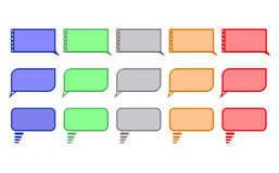Atypical speech colored bubbles. On white background Royalty Free Stock Photos