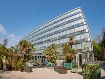 Außenansicht des berühmten Hortus Botanicus Leiden Lizenzfreie Stockfotografie