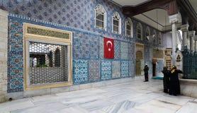 Außenansicht des Schreins von Hazrat Abu Ayub Ansari, Eyup Sultan Mosque Lizenzfreie Stockfotografie