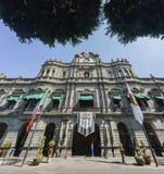 Außenansicht des städtischen Palastes Puebla stockfotografie