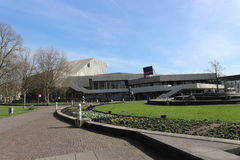 Außenansicht des Theaters und des Opernhauses in Karlsruhe, Deutschland Lizenzfreie Stockfotografie