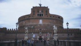 Außenansicht von castel sant 'Angelo, Rom stock video