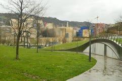 Außenansicht von einer Seite des Guggenheim-Museums Art Travel Holidays lizenzfreie stockbilder