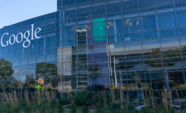 Außenansicht von Google-Büro Stockfotografie