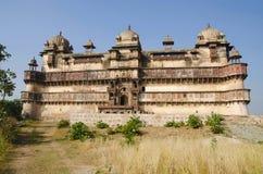 Außenansicht von Jahangir Mahal Palace Orchha-Fortkomplex Orchha Madhya Pradesh lizenzfreies stockfoto