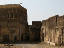 Außenansicht zu alter Festung Zabid, der Jemen stockfotos