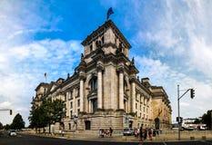 Außenansicht zu Reichstag-Gebäude, Berlin, Deutschland stockbilder