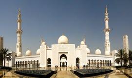 Außenansicht zu Sheikh Zayed Mosque, Abu Dhabi, UAE Stockfotografie